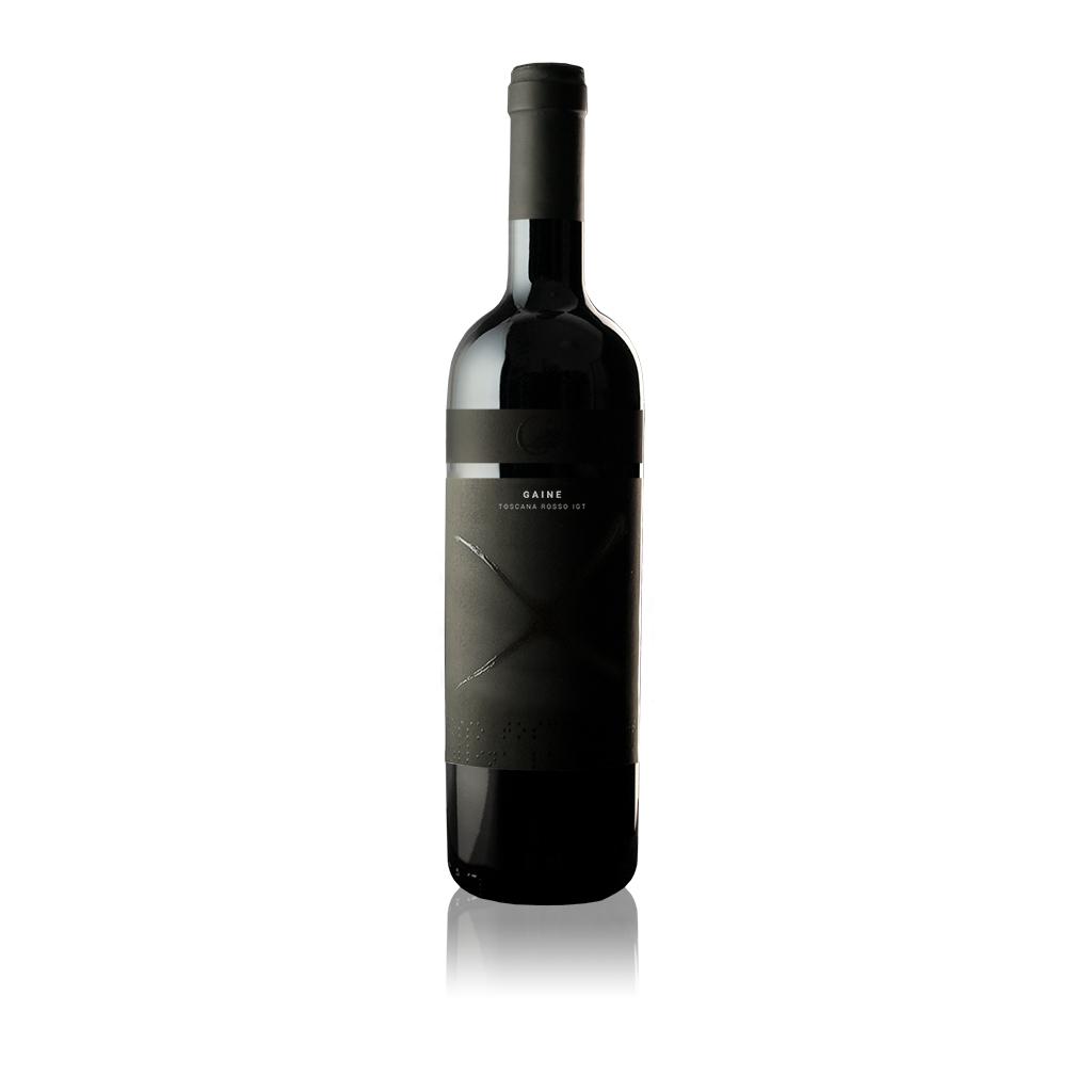 """Bottiglia di vino Toscana Rosso IGT """"Gaine"""" dell'Azienda Agricola Collina la Quercia"""